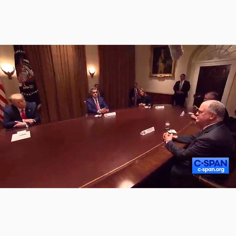 Joe Impicciche meeting with President Trump at the White House