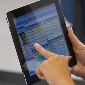Medical records on tablet